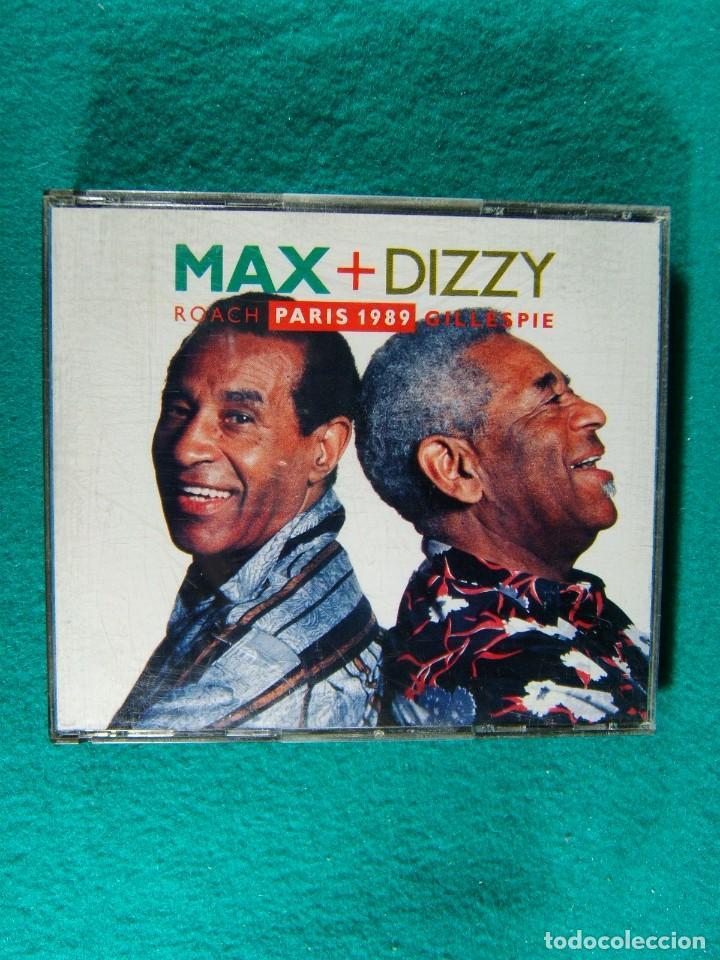 MAX + DIZZY- ROACH PARIS 1989 GILLESPIE-MADE IN WEST GERMANY-DOS CDS-1990. (Música - CD's Jazz, Blues, Soul y Gospel)