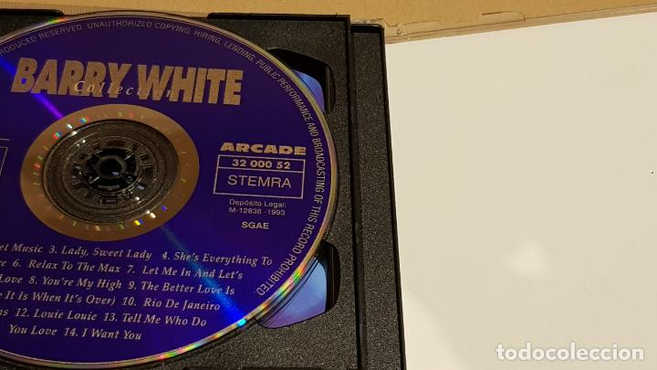 CDs de Música: BARRY WHITE COLLECTION / DOBLE CD - ARCADE / 28 TEMAS / CALIDAD LUJO. - Foto 3 - 184609611