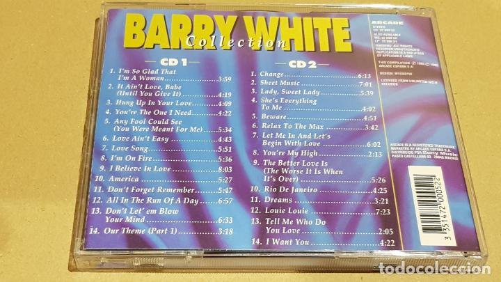 CDs de Música: BARRY WHITE COLLECTION / DOBLE CD - ARCADE / 28 TEMAS / CALIDAD LUJO. - Foto 4 - 184609611