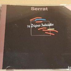 CDs de Música: JOAN MANUEL SERRAT / 24 PÁGINAS INOLVIDABLES / DOBLE CD - ZAFIRO / CALIDAD LUJO.. Lote 184609940