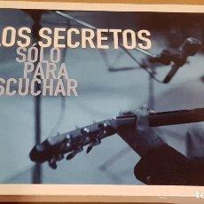 CDs de Música: LOS SECRETOS / SÓLO PARA ESCUCHAR / DIGIPACK-CD - DRO / 11 TEMAS / CALIDAD LUJO.. Lote 184611245