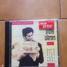 CDs de Música: CD ANDRES CALAMARO - NADIE SALE VIVO DE AQUI. Lote 184637572