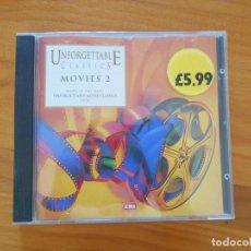 CDs de Música: CD UNFORGETTABLE CLASSICS - MOVIES 2 (9P). Lote 184697806