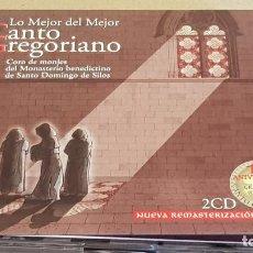 CDs de Música: LO MEJOR DEL MEJOR CANTO GREGORIANO / MONASTERIO DE SILOS / DIGIPACK-DOBLE CD / DE LUJO.. Lote 184701798