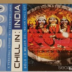 CDs de Música: CHILL IN INDIA / SOLO LO MEJOR DEL INDIAN CHILL OUT / DIGIPACK-CD / 14 TEMAS / CALIDAD LUJO.. Lote 184708027