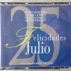 CDs de Música: JULIO IGLESIAS.25 ANIVERSARIO 1968-1993.SUS PRIMEROS EXITOS..DIFICIL..2 CD´S. Lote 184708266
