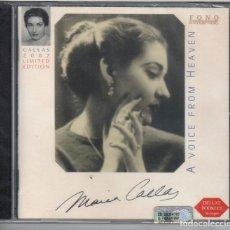 CDs de Música: MARIA CALLAS COMPARADA: UNA VOZ CELESTIAL NUEVO PRECINTADO. RARÍSIMO. Lote 184743260