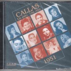 CDs de Música: MARIA CALLAS UN ANNO, UNA VOCE 1951 NUEVO PRECINTADO. RARÍSIMO. Lote 184743453