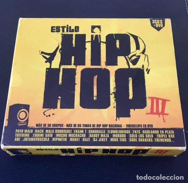 ESTILO HIP HOP III - 3 CDS + DVD - MALA RODRÍGUEZ, LA EXCEPCIÓN, 7N7C, SOLO LOS SOLO, FRANK T (Música - CD's Hip hop)