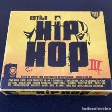 CDs de Música: ESTILO HIP HOP III - 3 CDS + DVD - MALA RODRÍGUEZ, LA EXCEPCIÓN, 7N7C, SOLO LOS SOLO, FRANK T. Lote 184777123