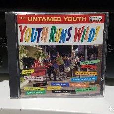 CDs de Música: THE UNTAMED YOUTH - YOUTH RUNS WILD! 1998 DEKE DICKERSON GARAGE SURF ROCK'N'ROLL. Lote 184799901