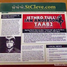 CDs de Música: JETHRO TULL: THICK AS A BRICK 2 - CD + DVD DIGIPACK *IMPECABLE*. Lote 137717182