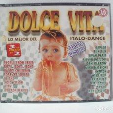 CD de Música: DOLCE VITA LO MEJOR DEL ITALO-DANCE 3 CD 1997. Lote 184912646