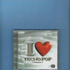 CDs de Música: CD - I LOVE YOU TECNO POP - VOL. 2 - CD 1. Lote 184930033