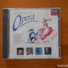 CDs de Música: CD ESSENTIAL OPERA - PAVAROTTI, SUTHERLAND, DOMINGO, TE KANAWA, CARRERAS (AA). Lote 185679768