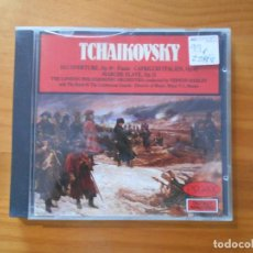 CDs de Música: CD TCHAIKOVSKY - 1812 OVERTURE, CAPRICCIO ITALIEN, MARCHE SLAVE... (AE). Lote 185719621