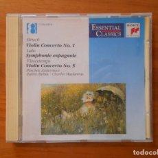 CDs de Música: CD BRUCH - LALO - VIEUXTEMPS - VIOLIN CONCERTOS - ZUKERMAN (AF). Lote 185724462