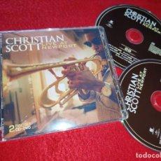 CDs de Música: CHRISTIAN SCOTT LIVE AT NEW PORT CD+DVD 2008 EU. Lote 185733436