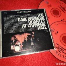 CDs de Música: THE DAVE BRUBECK QUARTET AT CARNEGIE HALL 2CD 2001 USA. Lote 185738655