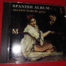 CDs de Música: CD ALBUM ESPAÑOL PARA GUITARRA -AGUSTIN MARURI-. Lote 185769916