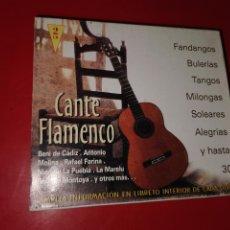 CDs de Música: 2 CD CANTE FLAMENCO 8429965016222. Lote 185770068