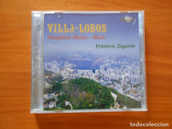 CD VILLA-LOBOS - COMPLETE GUITAR MUSIC (2 CD'S) - FREDERIC ZIGANTE (5G) (Música - CD's Clásica, Ópera, Zarzuela y Marchas)