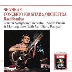 CDs de Música: RAVI SHANKAR & ANDRÉ PREVIN - LONDON SYMPHONY ORCHESTRA - CONCERTO FOR SITAR & ORCHESTRA - CD. Lote 185905330