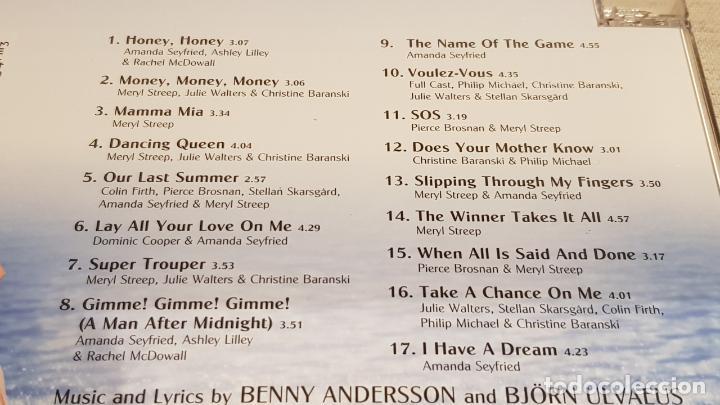 CDs de Música: B.S.O. / MAMMA MIA / ABBA / CD - POLYDOR-2008 / 17 TEMAS / CALIDAD LUJO. - Foto 4 - 186056290