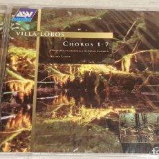 CDs de Música: VILLA-LOBOS / FILARMÓNICA DE GRAN CANARIA / CHOROS 1-7 / ADRIAN LEAPER / CD - PRECINTADO.. Lote 186057575