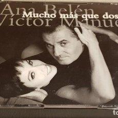 CDs de Música: ANA BELÉN Y VÍCTOR MANUEL / MUCHO MÁS QUE DOS / DOBLE CD-BOX / 30 TEMAS / CALIDAD LUJO.. Lote 186058708