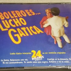 CDs de Música: BOLERO ES...LUCHO GATICA / DOBLE CD-BOX / 24 TEMAS / CALIDAD LUJO.. Lote 186067318