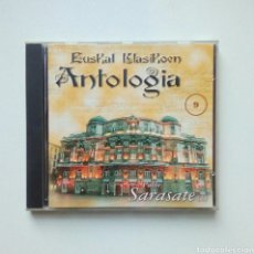 CDs de Música: PABLO SARASATE (1) - EUSKAL KLASIKOEN ANTOLOGIA, 9, EGIN DISKOTEKA. 1997. EUSKAL HERRIA.. Lote 186070585
