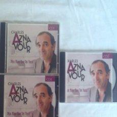 CDs de Música: 3 CDS DE CHARLES AZNAVOUR RECOPILATORIO. Lote 186090251