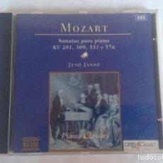 CDs de Música: - MOZART, SONATAS PARA PIANO KV 281, 331 Y 576 - PIANO CLASSICS. CD. Lote 186092976
