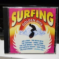 CDs de Música: VARIOUS ?– SURFING GOLDEN HITS (SPAIN, 1991) (DOBLE CD) - SURF MUSIC MADRID. Lote 186096340