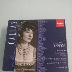 CDs de Música: TOSCA. PUCCINI. MARIA CALLAS, CARLO BERGONZI, TITO GOBBI. 2 CDS, LIBRETO Y ESTUCHE. EMI CLASSICS.. Lote 186122810