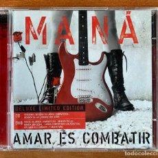 CDs de Música: MANÁ // AMAR ES COMBATIR // EDICIÓN LIMITADA ESPECIAL CD + DVD. Lote 186156461
