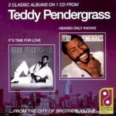 CDs de Música: TEDDY PENDERGRASS - 2 LP'S EN 1 CD - IT'S TIME FOR LOVE + HEAVEN ONLY KNOWS - SONIDO DE FILADELFIA. Lote 186163705