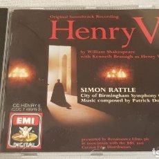 CDs de Música: B.S.O. / HENRY V / SIMON RATTLE / CD - EMI-1989 / CALIDAD LUJO.. Lote 186171410