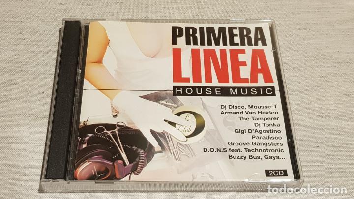 PRIMERA LINEA - HOUSE MUSIC / DOBLE CD - VALE MUSIC-1998 / 35 TEMAS / DE LUJO. (Música - CD's Disco y Dance)