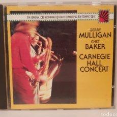 CDs de Música: GERRY MULLIGAN/ CHET BAKER/ CARNEGEI/ HALL CONCERT/ CD. Lote 186177472