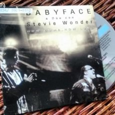 CDs de Música: CD-SINGLE ( PROMOCION) DE BABY FACE FEATURING STEVIE WONDER. Lote 186206657