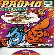 CDs de Música: MAX MUSIC ( PROMO 52 - 4 TEMAS) CDMAXI MAX PROMO 1997. Lote 186209295