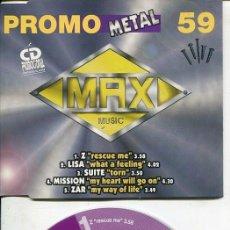 CDs de Música: MAX MUSIC ( PROMO 59 - 5 TEMAS) CDMAXI MAX PROMO 1998. Lote 186210126