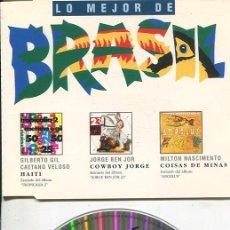 CDs de Música: LO MEJOR DE BRASIL (TEMAS) CDMAXI WEA 1994. Lote 186234362