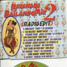 CDs de Música: MERENGUE BAILANDO MIX 2 (RADIO EDIT 5.05) CDMAXI MANZANA 1997. Lote 186234640