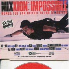 CDs de Música: MIXXION : IMPOSSIBLE(RADIO EDIT 4.55) CDMAXI CODE PROMO 1996. Lote 186235468