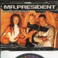 CDs de Música: MR.PRESIDENT / GIVE A LITTLE LOVE (5 VERSIONES) CDMAXI WEA 1999. Lote 186235892