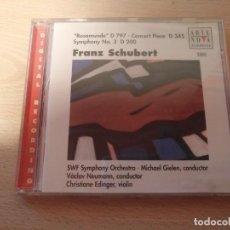CDs de Música: CD ARTE NOVA CLASSICS FRANZ SCHUBERT - ROSAMUNDE D 797 CONCERT PIECVE D 345 SYMPHONY Nº 3. Lote 186264107