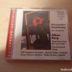 CDs de Música: CD ARTE NOVA CLASSICS ALEXANDER ZEMLINSKY LYRIC SYMPHONY - ALBAN BERG -LYRIC SUITE . Lote 186264662